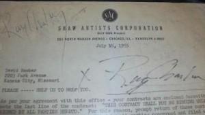 חתימה של ריי צ'ארלס