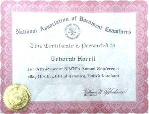 """ארגון בוחני מסמכים ( NADE)בארה""""ב"""