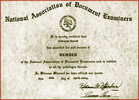 תעודת חברות בארגון NADE